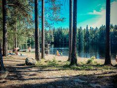 Härjänvatsan uimarannalta löytyy hyppytornit rohkeimmille sekä kaksi laituria joiden väli on 50 metriä http://www.naejakoe.fi/uimapaikat/harjanvatsan-uimaranta-kiikalassa/ #salo