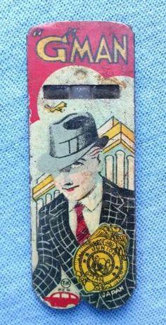 Vintage T-K Junior G Man Toy Tin Whistle