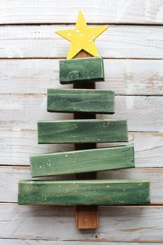Christmas tree from scrap wood