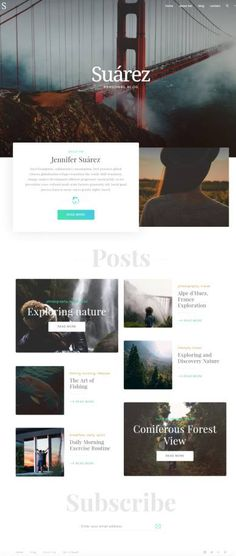 Suarez WordPress Blogging Theme : TeslaThemes http://www.wordpressthemereviewdesk.com/suarez-teslathemes/ #WordPress