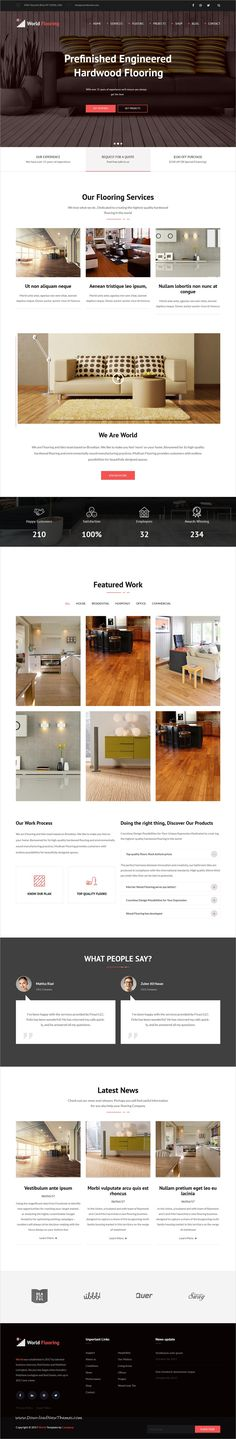 World Flooring is clean and modern design 2in1 responsive #Drupal theme for #flooring, #tiling, #paving services website to live preview & download click on Visit