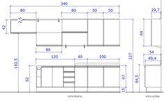 dimensões de armarios de cozinha - Pesquisa Google