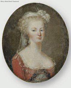 Portrait miniature de Marie Antoinette