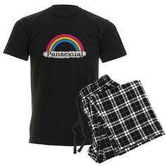 Pansexual Pride Rainbow pajamas on CafePress.com