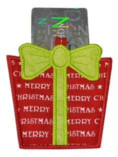 FREE In the Hoop Gift Card Holder for the 4x4 hoop - Excellent easy to follow PDF Instructions are included.