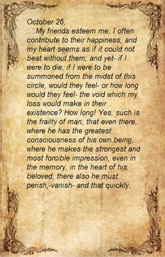Quote from The Sorrows Of Young Werther by Goethe.  #death #memory
