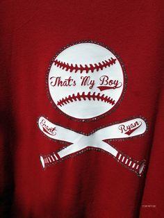 Thats My Boy Bling Baseball T-Shirt