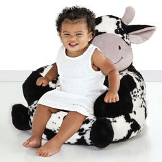 Trend Lab Children'S Plush Cow Character Chair for sale online Cow Print Chair, Portable Baby Bed, Toddler Humor, Funny Toddler, Toddler Gifts, Plush, Black And White, Children, Black Chairs