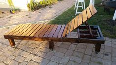 I made a lounge chair for the patio out back. I am going to get a cushion for it.