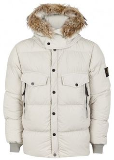 Ecru quilted shell jacket