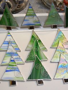 stained glass christmas tree ornament christmas