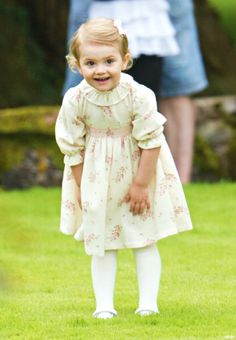 .Princess Estelle of Sweden attends the Victoria Day celebrations of her Mother's 37th Birthday, at Solliden on 14.07.2014 in Oland, Sweden.