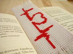 Cross stitch bookmark  lifeline valentines day by MariAnnieArt