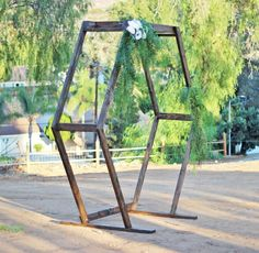 This handmade wood geometric ceremony arch rental item is the perfect accent to any event. Circle Ceremony arch for rent in San Diego and Southern California. Wedding Guest Book, Diy Wedding, Wedding Events, Wedding Ideas, Wedding Reception, Wedding Arbors, Weddings, Wedding Decor, Budget Wedding