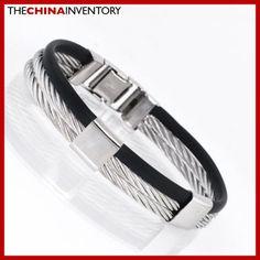 STAINLESS STEEL ROPE RUBBER BANGLE BRACELET B2101 Bangle Bracelets, Bangles, Stainless Steel, Usa, Jewelry, Bracelets, Bracelets, Jewlery, Bijoux