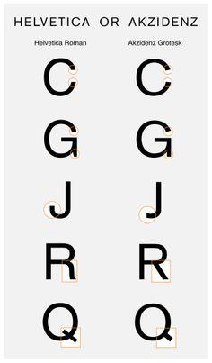 Akzidenz Grotesk vs Helvetica