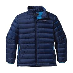 Patagonia Boys\' Down Sweater Jacket - Channel Blue CHB