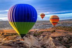 海外旅行世界遺産 気球からの風景 ギョレメ国立公園とカッパドキアの岩窟群の絶景写真画像ランキング  トルコ