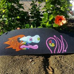 """""""Early Bird"""" we enjoy putting out these grips for u guys please keep supporting us so we can! #oddball #oddballgrip #griptape #art #gripart #griptapeart #skatelife #skateordie #skateboard #skateboarding #skateeverydamnday #skateanddestroy #design #designs #metrogrammed #hellaclips #thrasher #local #crazy #trippy #skate #sk8 #sk8life #sk8ordie #love #color#eyeball #eye #rainbow #bird by oddball_grip"""