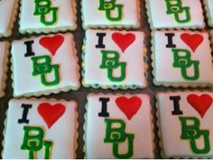 """""""I love Baylor"""" cookies by Cookie Mama."""