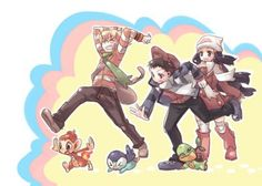 Pokemon Barry, Lucas and Dawn