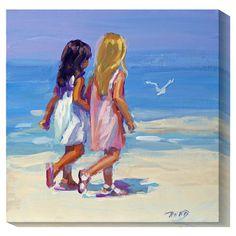 Beach Stroll Canvas Print.