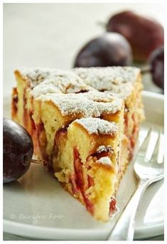Barafras wooden spoon: Juicy plum cake with batter - angie - Kuchen Sweet Recipes, Cake Recipes, Cake Batter Truffles, German Baking, German Cake, Plum Cake, Sweet Bakery, Sweets Cake, No Cook Desserts
