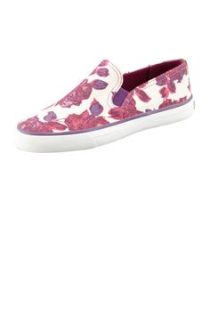 """Tory Burch Miles Canvas Slip-On Sneaker, Floral - Neiman Marcus~ Remind me of the """"Old Skool"""" Vans from when I was a kid~ These are actually cooler than those Vans~ Elle Fashion, Spring Fashion, Floral Flats, Dream Shoes, Slip On Sneakers, New Trends, Me Too Shoes, Tory Burch, My Style"""
