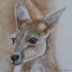 Kangaroo Joey Australian Animals Home decor by NicoleBarrosArt, $120.00