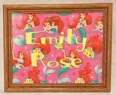 Disney Little Mermaid Personalized Name Print 2 Sizes