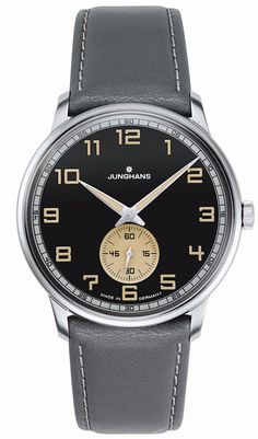 Junghans Meister Handwound Anthracite-Grey effect lacquer dial 027/3608.00
