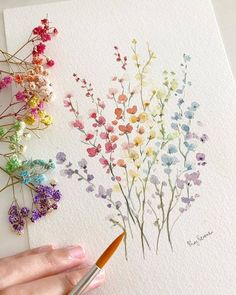 flower art My dream is to have a garden full of these colorful flowers . Double tap if you love journaling! Use and us to Art Floral, Watercolor Flowers, Watercolor Paintings, Watercolors, Drawing Flowers, Easy Watercolor, Water Paint Flowers, Watercolour Pencil Art, Flower Garden Drawing
