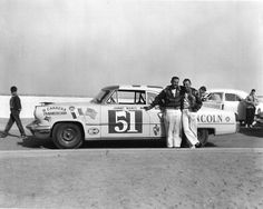 Johnny Mantz and Bill Stroppe next to their Lincoln Capri at the 1953 Carrera Panamericana  photo by Bruce Craig  revs institute