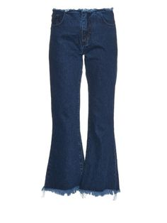 Marques'Almeida Capri frayed-edge flared jeans