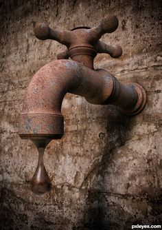 rusty dripping tap ~ (ps. I's been sitting on 1944 followers & born in 1994 - someone get me past 1944)