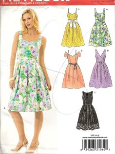 NEW LOOK 6805 GARDEN PARTY DRESS SEWIG PATTERN 6 8 10 12 14 16 BODICE OPTS NEW #NewLook