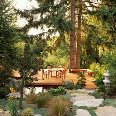 THIS is what I want to do to the back yard in Woodstock!    Poppytalk: Stepping Stones: Patios + Pathways