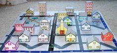diorama idea, make a map of home neighborhood and have your child drive their toy car on it.