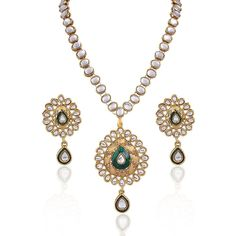 Indian Ebay Gold Plated Bollywood Party Wear Women & Girls Jewelry Necklace Set #natural_gems15