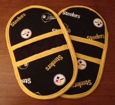 Microwave Oven Mitts  Pot Holders  Pinchers  Steelers by MBTPA, $23.00