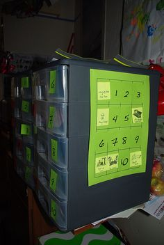 workboxes for school room Workbox System, Learning Spaces, Cool Tools, Locker Storage, Homeschool, Organization, Room, Getting Organized, Bedroom