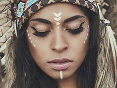 1001 good ideas for # eyeliner # eyemakeup # beauty # mascara Indian Makeup Halloween, Make India, India India, Prom Makeup, Eye Makeup, Wedding Makeup, Beauty Makeup, Bohemian Makeup, Hippie Makeup