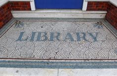 Why have I never noticed this before? Floor Patterns, Tile Patterns, Little Green House, Entry Tile, Doors And Floors, Mosaic Crafts, Street Signs, Tile Design, Falmouth England