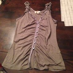 Flirty Gray Tank Top Super soft and comfortable, flirty tank top - could be worn with a tank underneath for daytime or make it a little more revealing for the evening! Old Navy Tops Tank Tops