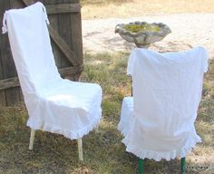 French Country Natural Cotton Muslin Chair by junkexchange on Etsy, $45.00