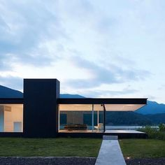 log in - Lakeside House, Japan, by Shinichi Ogawa. Lakeside House, Japan, by Shinichi Ogawa. Architecture Design, Minimal Architecture, Modern Architecture House, Residential Architecture, Modern House Design, Amazing Architecture, Contemporary Design, Living Haus, Dream House Exterior