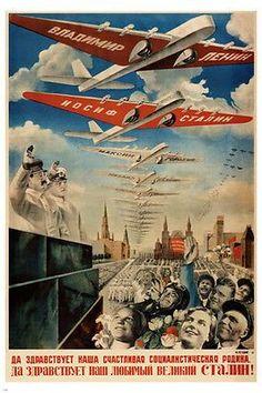 LONG LIVE OUR SOCIALIST MOTHERLAND vintage poster G G Klutsis USSR 24X36