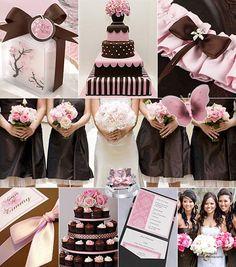 Brun Rosa Färgtema På Bröllop Color Theme Brown Pink