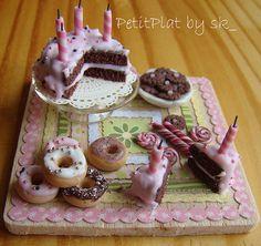 :: Crafty :: Clay :: Bakery :: Miniature Food and My Birthday Cake   by PetitPlat - Stephanie Kilgast