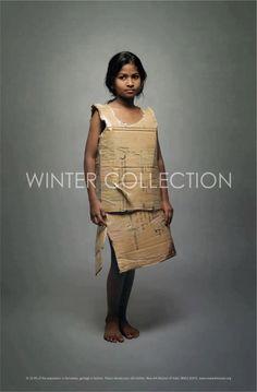 Winter collection cardboard girl poor: 10 buenas campañas de sensibilización para tomar conciencia | United Explanations